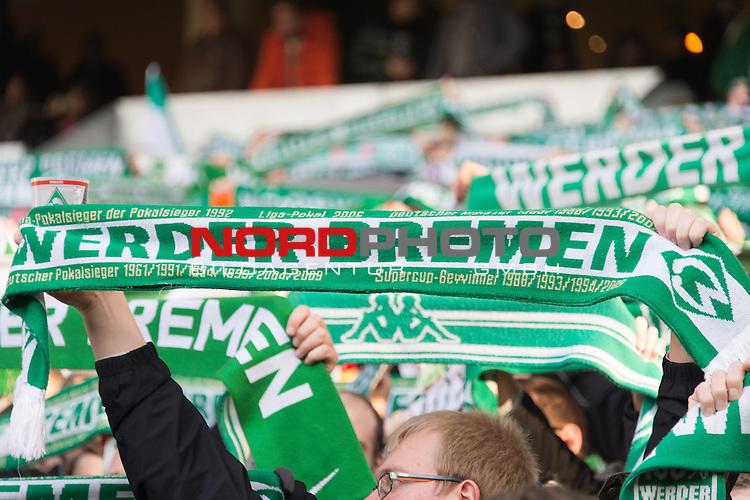 14.02.2015, Weser Stadion, Bremen, GER, 1.FBL. Werder Bremen vs 1. FC Augsburg, im Bild<br /> <br /> <br /> Fan Schaal Werder Bremen - Feature<br /> <br /> <br /> Foto &copy; nordphoto / Kokenge