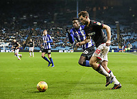 Bolton Wanderers' Yanic Wildschut competing with Sheffield Wednesday's Lucas Joao <br /> <br /> Photographer Andrew Kearns/CameraSport<br /> <br /> The EFL Sky Bet Championship - Sheffield Wednesday v Bolton Wanderers - Tuesday 27th November 2018 - Hillsborough - Sheffield<br /> <br /> World Copyright © 2018 CameraSport. All rights reserved. 43 Linden Ave. Countesthorpe. Leicester. England. LE8 5PG - Tel: +44 (0) 116 277 4147 - admin@camerasport.com - www.camerasport.com