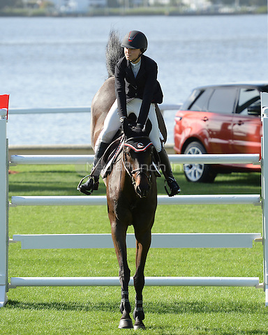 PALM BEACH FL - JANUARY 4:  Georgina Bloomberg competes during The Trump Invitational Grand Prix at Club Mar-a-Lago on January 4, 2015 in Miami, FL Florida. Credit: mpi04/MediaPunch
