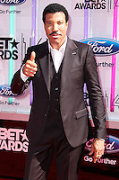 LOS ANGELES, CA, USA - JUNE 29: Lionel Richie arrives at the 2014 BET Awards held at Nokia Theatre L.A. Live on June 29, 2014 in Los Angeles, California, United States. (Photo by Xavier Collin/Celebrity Monitor)