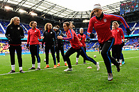 Harrison, NJ - Sunday March 04, 2018: Kelley O'Hara, Alex Morgan during a 2018 SheBelieves Cup match match between the women's national teams of the United States (USA) and France (FRA) at Red Bull Arena.