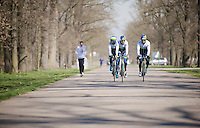 training/coffee ride with Team Orica-GreenEDGE at Monza (race circuit park) 1 day before Milan-San Remo