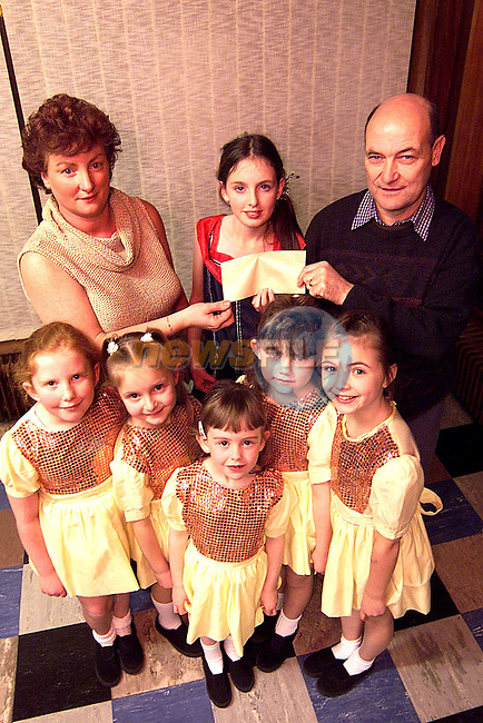 The proceeds from the Gala Variety Show were in aid of the St. John of God Day Care Centre, Magdalene Street. Pictured  is Ann Buckley presenting a cheque to Gerry Kirwan, chairperson parents committee. Also pictured are Sarah Malone, Rebecca Cahill, Celine Lully, Alison Morgan, Kerry Rothwell and Kerrie Harris..Picture: Paul Mohan/Newsfile