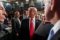 FEBRUARY 5, 2019 - WASHINGTON, DC: President Donald Trump after the State of the Union address at the Capitol in Washington, DC on February 5, 2019. Photo Credit: Doug Mills/CNP/AdMedia