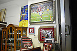 A gallery on University Boulevard features framed football photographs and artwork during the College Football Bowl Championship Series, BCS, final in downtown Tuscaloosa, Alabama on January 7, 2013.  Alabama beat Notre Dame 42-14.