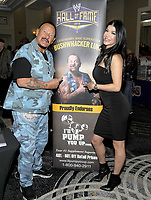 NEW YORK, NY - NOVEMBER 4: Buhwhacker Luke Williams and Rosa Mendes attends the Big Event NY at LaGuardia Plaza Hotel on November 4, 2017 in Queens, New York.  Credit: George Napolitano/MediaPunch /NortePhoto.com