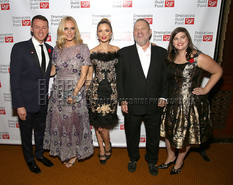 Andrew Lippa, Keren Craig, Georgina Chapman, Harvey Weinstein and Rachel Routh attends the Dramatists Guild Fund Gala 'Great Writers Thank Their Lucky Stars : The Presidential Edition' at Gotham Hall on November 7, 2016 in New York City.