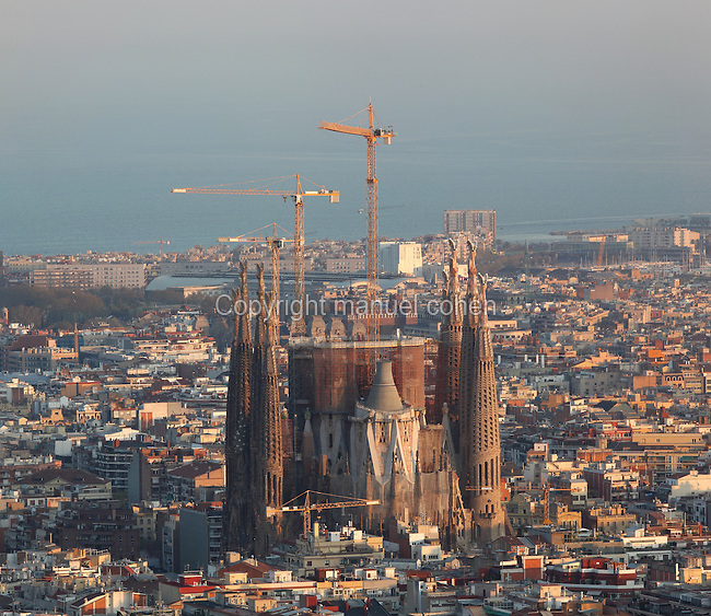 North transept facade, Gaudi Temple Sagrada Familia, 20th - 21st centuries, Barcelona, Spain. Picture by Manuel Cohen