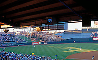 Ballparks: Anaheim--Edison Field--view of field from wheelchair seats. Photo '99.