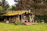 USA, Alaska, Homer, China Poot Bay, Kachemak Bay, view of the sauna at Kachemak Bay Wilderness Lodge