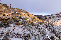Italy, Lucania,Matera view of Gravina, canyon beside the city
