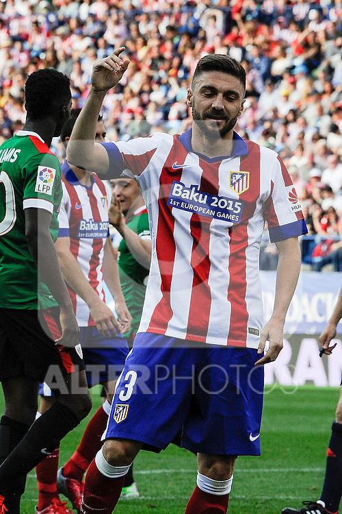 Atletico de Madrid´s Guilherme Siqueira during 2014-15 La Liga match between Atletico de Madrid and Athletic Club at Vicente Calderon stadium in Madrid, Spain. May 02, 2015. (ALTERPHOTOS/Luis Fernandez)