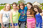 Pictured taking part in Blennerville N.S. Sports Day on Friday, from left: Yvette Daly, Zoe Quinlivan, Kate Moore, Niamh Furlong and Sophie Knightly..