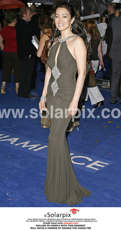 """ALL ROUND PICTURES BY SOLARPIX.COM.*MUST CREDIT SOLARPIX.COM OR DOUBLE WILL BE CHARGED*.The premiere of the film """"Miami Vice"""" at the Odeon Leicester Square in the west end of London yesterday..This pic:CONG LI..DATE:28_07_06-JOB REF:2642-PRS"""