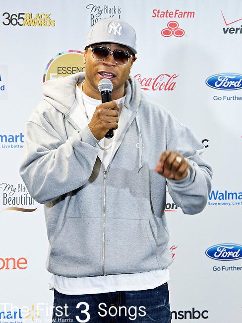 LL Cool J (born James Todd Smith) in the press room after his performance at the 2013 Essence Festival at the Mercedes-Benz Superdome in New Orleans, Louisiana.