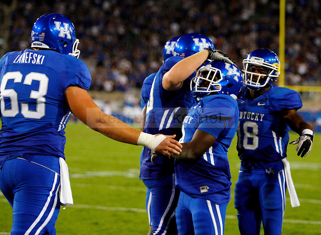 during the second half of  UK's win over  Akron at home on  Saturday, September 18, 2010. Photo by Britney McIntosh | Staff