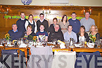 Enjoying his 19th birthday was Stephen Roche(3rd from left) from Caherhayes, Abbeyfeale, pictured here celebrating with family and friends last Sunday night in Leen's Hotel, Abbeyfeale. F l-r: Ger, Marian, and Stephen Roche, David Murphy, Jermiah Roche, Jodi Downes, Caroline Griffin. B l-r: Sean and Michelle Morris, Tomy Downes, Eileen Murphy, Mairead and Connor Fitzgerald and Jerry Griffin.