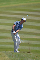 Cody Gribble (USA) hits his approach shot on 8 during Round 1 of the Valero Texas Open, AT&amp;T Oaks Course, TPC San Antonio, San Antonio, Texas, USA. 4/19/2018.<br /> Picture: Golffile | Ken Murray<br /> <br /> <br /> All photo usage must carry mandatory copyright credit (&copy; Golffile | Ken Murray)
