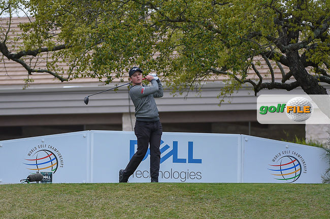 Eddie Pepperell (ENG) watches his tee shot on 1 during day 3 of the WGC Dell Match Play, at the Austin Country Club, Austin, Texas, USA. 3/29/2019.<br /> Picture: Golffile | Ken Murray<br /> <br /> <br /> All photo usage must carry mandatory copyright credit (© Golffile | Ken Murray)