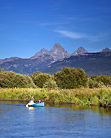Canoeing the Teton River in Driggs Idaho