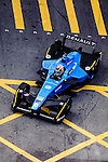 Sebastien Buemi of Renault E.Dams team during the first stop of the FIA Formula E Championship HKT Hong Kong ePrix at the Central Harbourfront Circuit on 9 October 2016, in Hong Kong, China. Photo by Marcio Rodrigo Machado / Power Sport Images