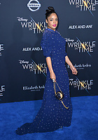 Tessa Thompson at the premiere for &quot;A Wrinkle in Time&quot; at the El Capitan Theatre, Los Angeles, USA 26 Feb. 2018<br /> Picture: Paul Smith/Featureflash/SilverHub 0208 004 5359 sales@silverhubmedia.com