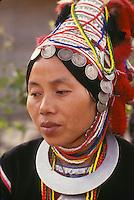 Akha tribal woman, Chiang-Mai, Thailand