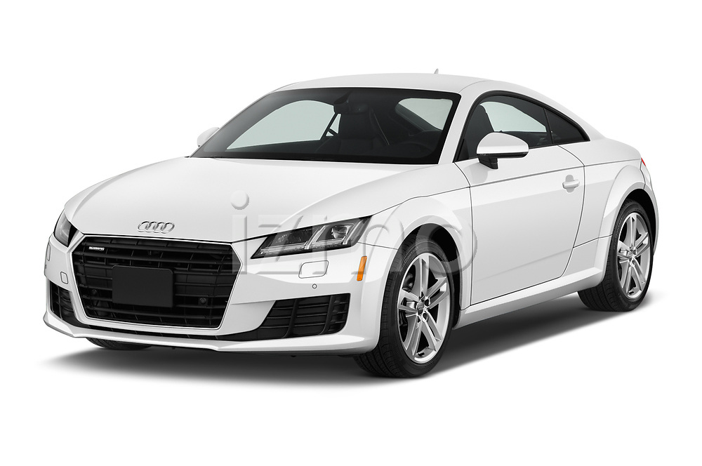 2018 Audi TT-Coupe  2.0T-quattro-S-tronic 2 Door Coupe angular front stock photos of front three quarter view