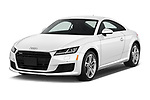 2016 Audi TT-Coupe  2.0T-quattro-S-tronic 2 Door Coupe angular front stock photos of front three quarter view