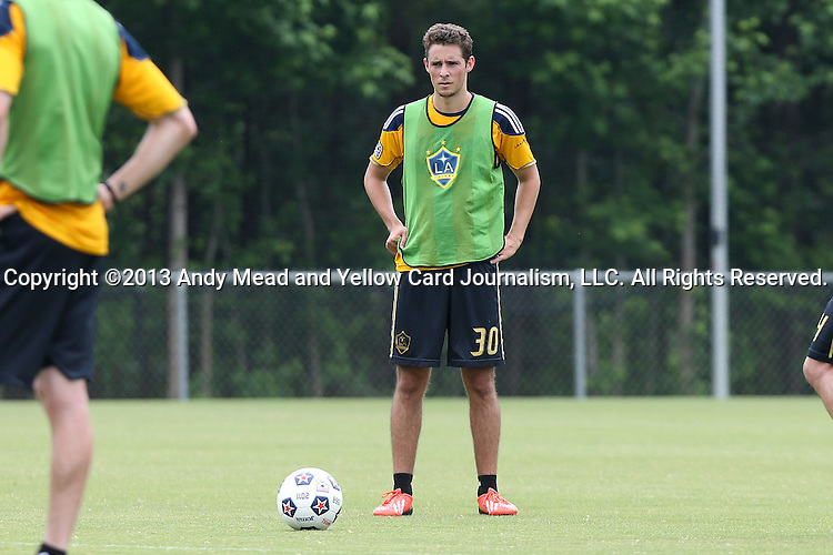 28 May 2013: Chandler Hoffman. The Los Angeles Galaxy held a training session on Field 3 at WakeMed Soccer Park in Cary, NC the day before playing in a 2013 Lamar Hunt U.S. Open Cup third round game.