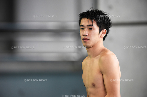 Sho Sakai,<br /> SEPTEMBER 19, 2015 - Diving :<br /> All Japan Diving Championship 2015<br /> Men's 3m Springboard<br /> Preliminary<br /> at Tatsumi International Swimming Center, Tokyo, Japan.<br /> (Photo by AFLO SPORT)
