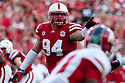 10 Sept 2011: Jared Crick #94 of the Nebraska Cornhuskers against the Fresno State Bulldogs at Memorial Stadium in Lincoln, Nebraska. Nebraska defeated Fresno State 42 to 29.