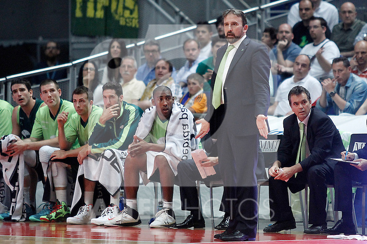 Unicaja's coach Joan Plaza during Liga Endesa ACB Semifinal match.June 6,2014. (ALTERPHOTOS/Acero)