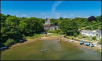 Idyllic picture postcard Cornish riverside home.