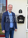 Cllr Pio Smith at number 84 College Rise. Photo:Colin Bell/pressphotos.ie