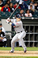 August 7, 2009:  Left Fielder Trevor Crowe (26) of the Cleveland Indians at bat during a game vs. the Chicago White Sox at U.S. Cellular Field in Chicago, IL.  The Indians defeated the White Sox 6-2.  Photo By Mike Janes/Four Seam Images