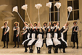 London, UK. 19 November 2015. Dress rehearsal for the Gilbert and Sullivan comic opera The Mikado at the London Coliseum. Jonathan Miller's production of The Mikado returns to the Coliseum celebrating 200 performances on stage. Performances start on 21 November 2015 for 13 performances until 6 February 2016. With Robert Lloyd as The Midado, Anthony Gregory as Nanki-Poo, Richard Suart as Ko-Ko, Mary Bevan as Yum-Yum and Yvonne Howard as Katisha. Photo: Bettina Strenske