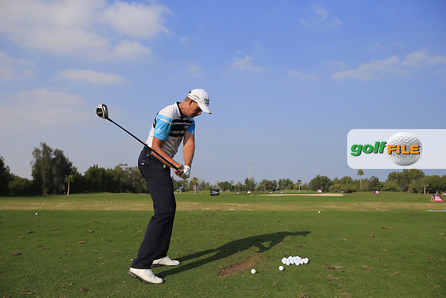 Henrik Stenson (SWE) swing sequence during Tuesday's Pro-Am of the Commercial Bank Qatar Masters 2014 held at Doha Golf Club, Doha, Qatar. 21st January 2014.<br /> Picture: Eoin Clarke www.golffile.ie