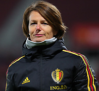 20191008 CLUJ NAPOCA:Belgium's physiotherapist Fabienne Van De Steene is pictured at the match between Belgium Women's National Team and Romania Women's National Team as part of EURO 2021 Qualifiers on 8th of October 2019 at CFR Stadium, Cluj Napoca, Romania. PHOTO SPORTPIX | SEVIL OKTEM