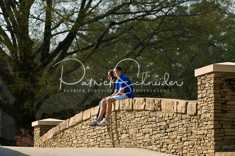 A couple enjoys the day in Freedom Park in Charlotte, NC. Editorial only, no model release.