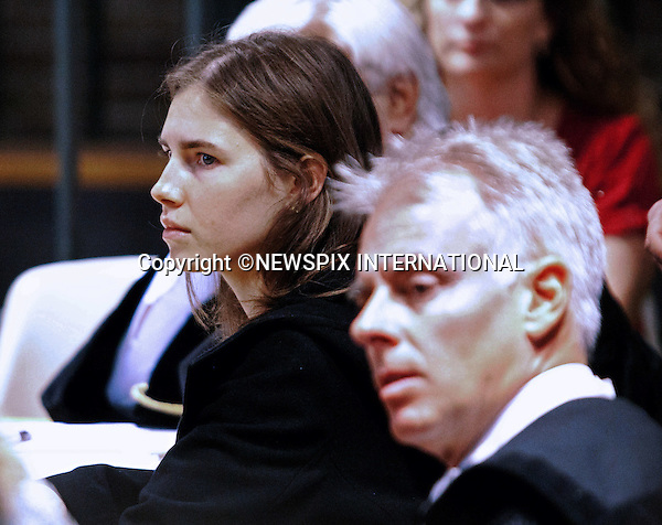 "AMANDA KNOX AND ADVOCATE CARLO DALLA VEDOVA.Amanda Knox together with her former boyfriend Raffaele Sollecito are charged with involvement in the murder of 21-year-old London student Meredith Kercher on 1 November 2007..The pair had been sentenced in 2009 to 26 years over their involvement in the murder of Miss Kercher, Perugia, Italy_30/09/2011.Mandatory Credit Photo: ©Caprai Sestini/NEWSPIX INTERNATIONAL..**ALL FEES PAYABLE TO: ""NEWSPIX INTERNATIONAL""**..IMMEDIATE CONFIRMATION OF USAGE REQUIRED:.Newspix International, 31 Chinnery Hill, Bishop's Stortford, ENGLAND CM23 3PS.Tel:+441279 324672  ; Fax: +441279656877.Mobile:  07775681153.e-mail: info@newspixinternational.co.uk"