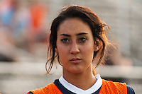 Sky Blue FC defender Lindsi Lisonbee-Cutshall (18). Sky Blue FC defeated the Boston Breakers 5-1 during a National Women's Soccer League (NWSL) match at Yurcak Field in Piscataway, NJ, on June 1, 2013.