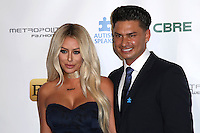 BURBANK, CA - SEPTEMBER 29: Aubrey O'Day and Paul DelVecchio at the Autism Speaks' La Vie En Blue Fashion Gala at Warner Bros. Studios in Burbank, California on September 29, 2016. Credit: David Edwards/MediaPunch