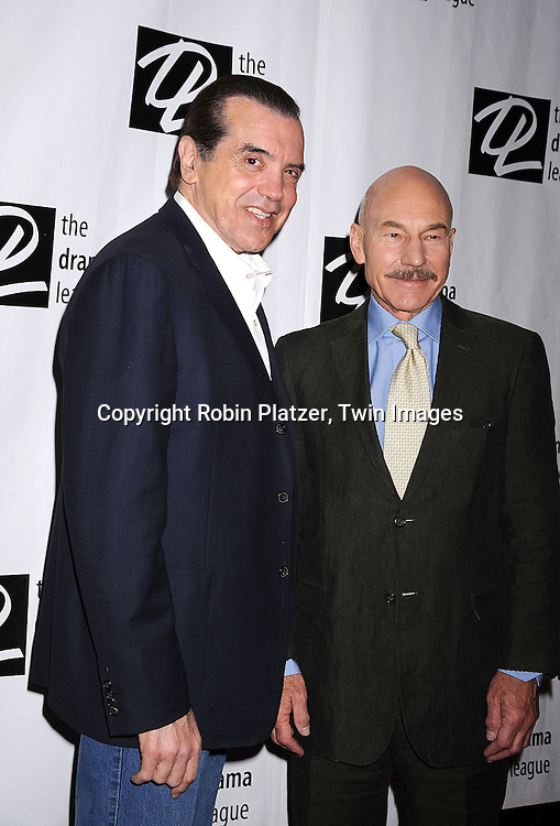 Chazz Palminteri and Patrick Stewart..posing for photographers at The 74th Annual Drama League Awards Ceremony and Luncheon..on May 16, 2008 at The Marriott Marquis Hotel. ....Robin Platzer, Twin Images