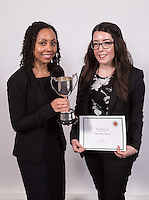 Winner of the President's Cup was Nadine Maher of Eversheds who is pictured with runner-up Alexandra Emery of Nelsons