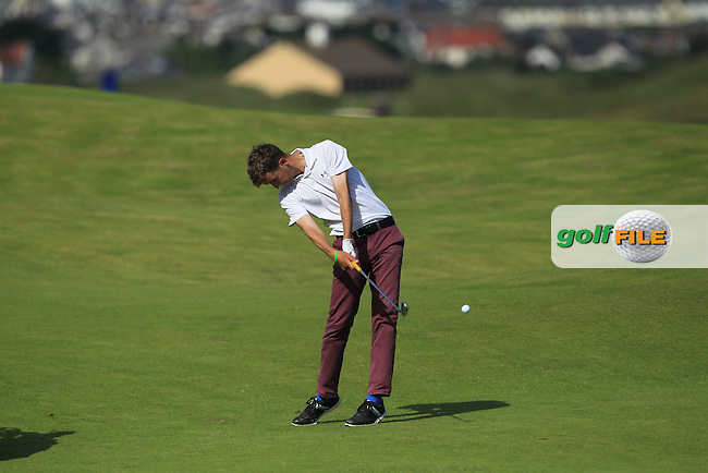 Sean Flanagan (Co. Sligo) on the 4th fairway during Round 3 of Matchplay in the North of Ireland Amateur Open Championship at Portrush Golf Club, Portrush on Thursday 14th July 2016.<br /> Picture:  Thos Caffrey / www.golffile.ie