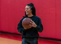 HOUSTON, TX - FEBRUARY 1: Ali Krieger #11 of the United States holds the ball at Houston Rockets Training Center on February 1, 2020 in Houston, Texas.