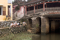 16th century Japanese Covered Bridge in downtown Hoi An, central Vietnam