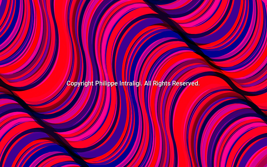 Vibrant red and purple abstract full frame wave pattern