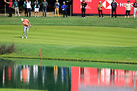 Haotong Li (CHN) on the 9th green during the 3rd round of the WGC HSBC Champions, Sheshan Golf Club, Shanghai, China. 02/11/2019.<br /> Picture Fran Caffrey / Golffile.ie<br /> <br /> All photo usage must carry mandatory copyright credit (© Golffile | Fran Caffrey)